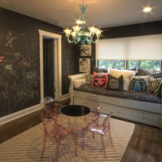 Eclectic Family Room by Cornerstone Architects