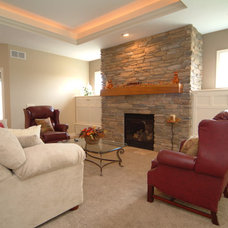Traditional Family Room by Rivertown Homes by Design