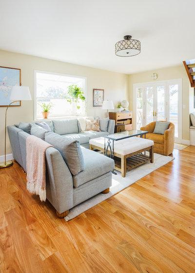 Beach Style Family Room by DANIELLE Interior Design & Decor