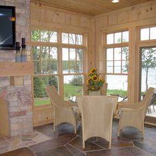 Traditional Family Room by Thelen Total Construction