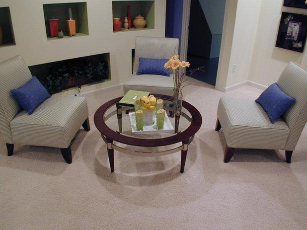 family room by laura bendik interiors - Slipper Chairs