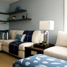 Contemporary Family Room by Lorna Saunders Interiors