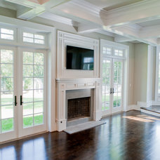 Traditional Family Room by Michelle Winick Design