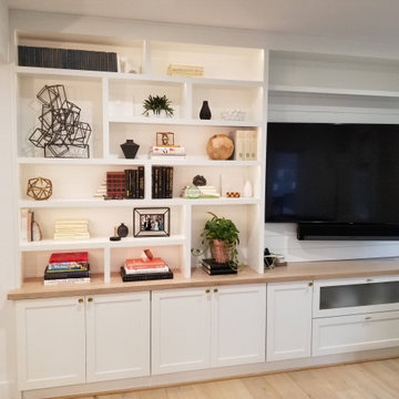 Den Built-ins with TV and Storage