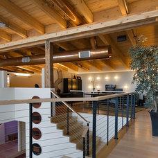 Modern Family Room by Keuka Studios, Inc