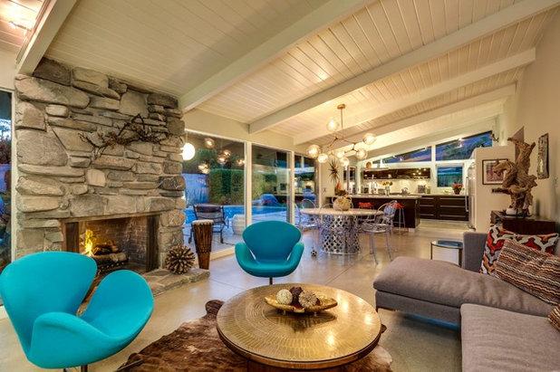 Midcentury Family Room by Moderne Builders