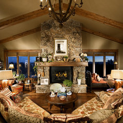 eclectic family room by Terrie Hall