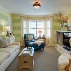 Traditional Family Room by Interiors by Marcia Philipp