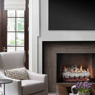 Detail of Family Room Fireplace