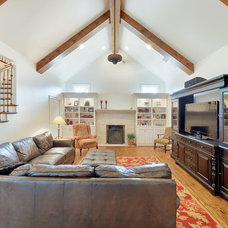 Traditional Family Room by LRO Residential