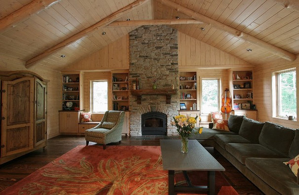 Traditional Family Room by Dexter Builders