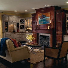 Transitional Family Room by MasterBrand Cabinets, Inc.