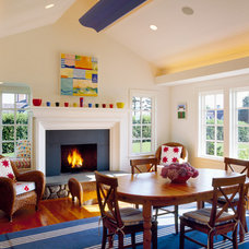 Eclectic Family Room by Polhemus Savery DaSilva