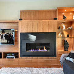 contemporary media room by Handwerk Interiors