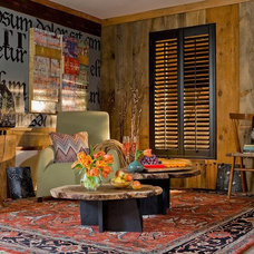 Eclectic Family Room by New England Shutter Mills