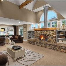 Modern Family Room by DKWozniak Design/Build LLC