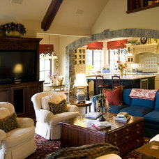 Traditional Family Room by Francis Garcia Architect