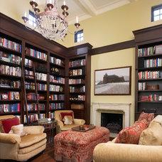 Mediterranean Family Room by Barnes Vanze Architects, Inc