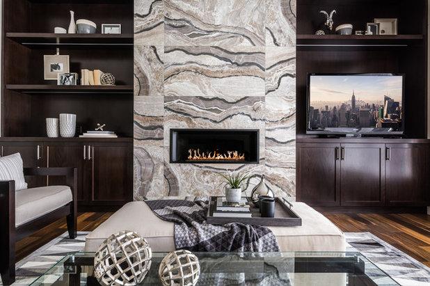 Clásico renovado Sala de estar by Klassen Photography