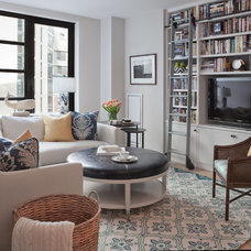 Transitional Family Room by Twelve Chairs