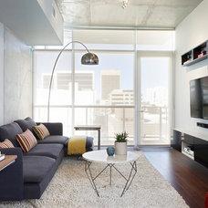 Contemporary Family Room by Daniella Villamil Interiors