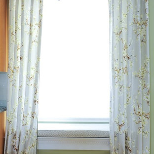 Drapery panels with scalloped header