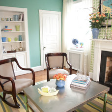 Eclectic Family Room by HOBNOB design