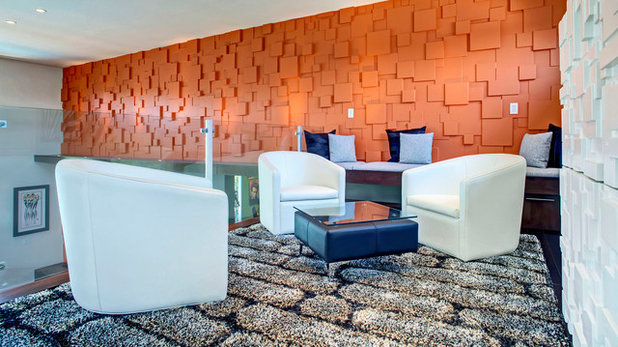 Contemporary Family Room by Cantoni