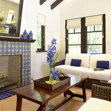 Mediterranean Family Room by Magdalena Bogart Interiors