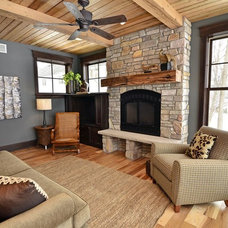 Contemporary Family Room by Highmark Builders