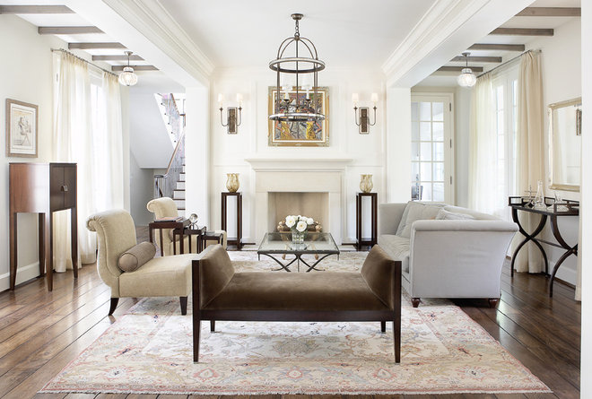 Traditional Family Room by Mark Hickman Homes