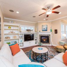 Beach Style Family Room by Dreambuilder Custom Homes