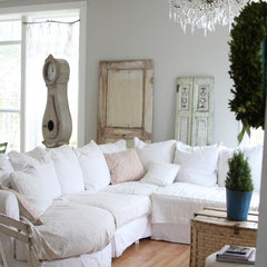 eclectic family room by Dreamy Whites