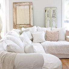 Rustic Family Room by Dreamy Whites