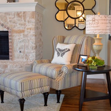 Eclectic Family Room by AMA Interiors