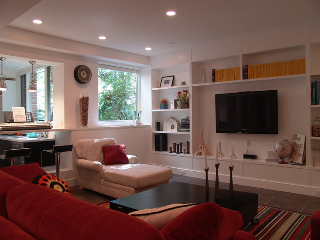 Contemporary Family Room by Soorikian Architecture