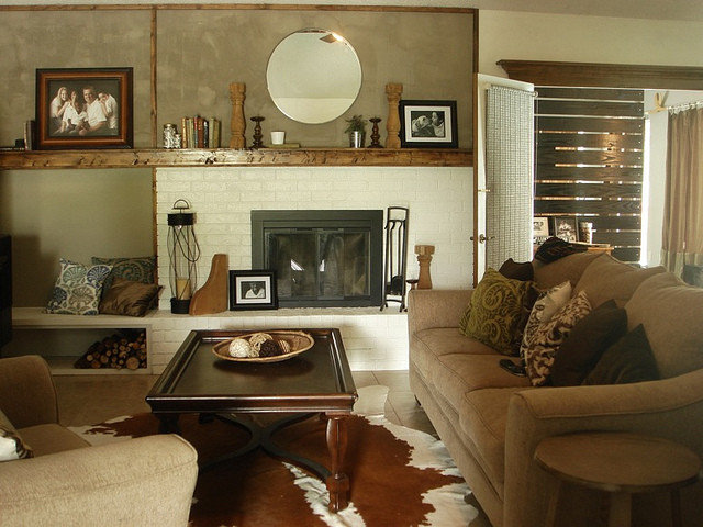 Family Room by remodelaholic.com