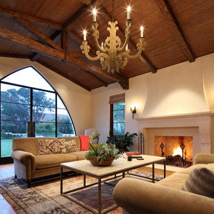 Inspiration for a mediterranean family room remodel in Los Angeles