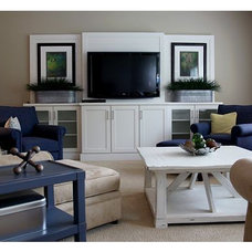 transitional family room by Dwellings