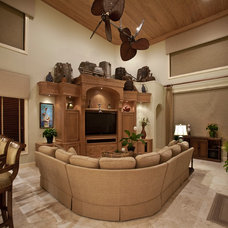 Tropical Family Room by Dynamic Designs Furniture