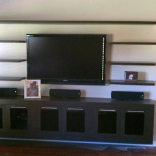 Contemporary Family Room by HG Customs