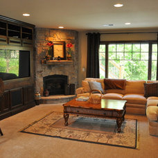 Traditional Family Room by Werschay Homes