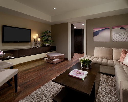 Modern tv room houzz - Modern tv rooms design ...