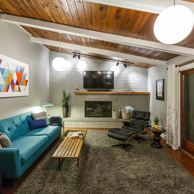mid century home design. East Grand Rapids Family Room Mid century home design  mid modern interior designer