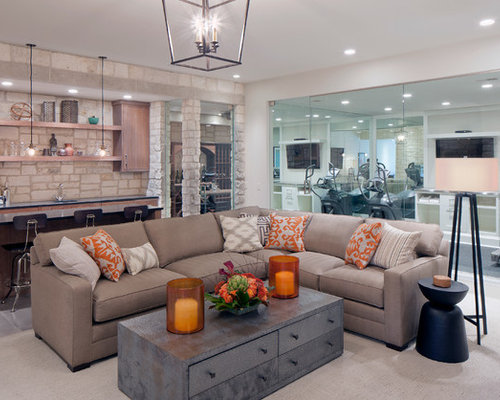 SaveEmail - Sectional With Coffee Table Houzz