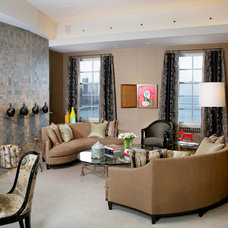 Contemporary Family Room by Jessica Lagrange Interiors