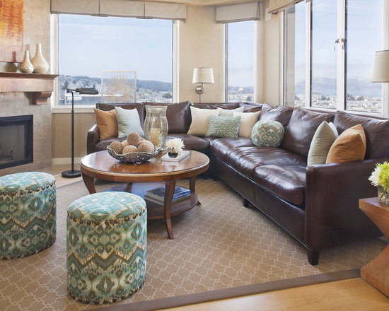 Living Room Ideas With Brown Sectionals brown sectional ideas | houzz