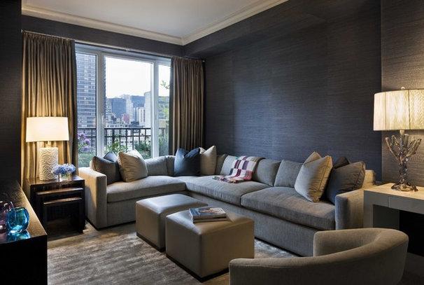 Contemporary Family Room by GRADE