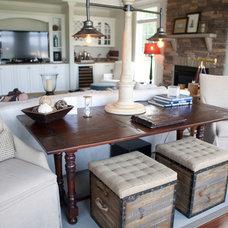 Beach Style Family Room by Dream House Studios