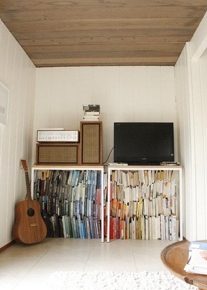 Midcentury Family Room Eclectic Eichler den